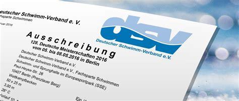 Bewerbung Dm Berlin Ausschreibung F 252 R Die Schwimm Dm Ist 23 Deutsche