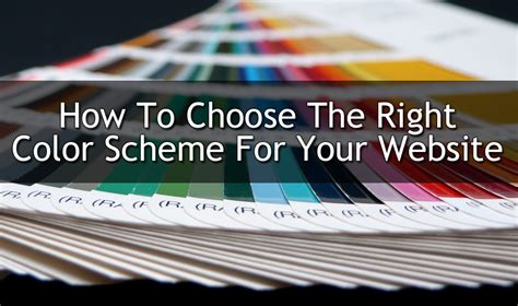 understanding color schemes choosing colors for your website web ascender how to choose the right color scheme for your website