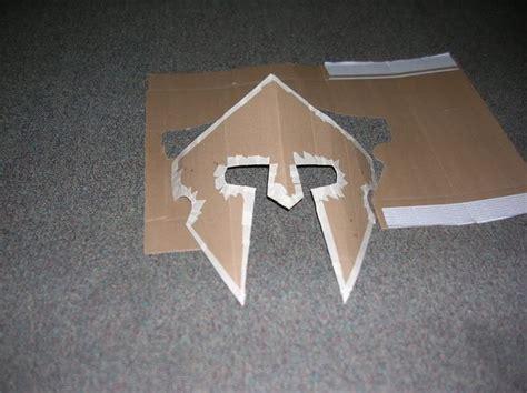 spartan mask template how to make a helmet cardboard spartan helmet