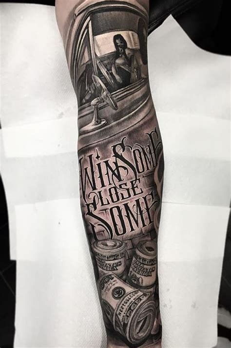 black and gray sleeve tattoo inkstylemag