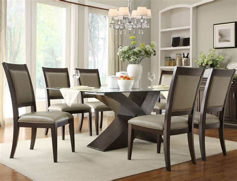 Rectangular Glass Top Dining Room Tables Dining Room Delightful Glass Top Dining Room Tables
