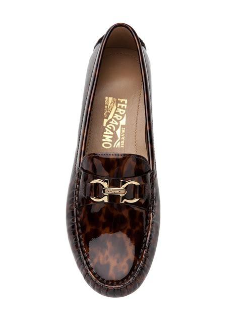 womens ferragamo loafers salvatore ferragamo women s tortoise shell print loafer