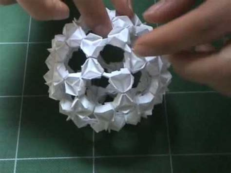 Origami Buckyball - origami buckyball tutorial