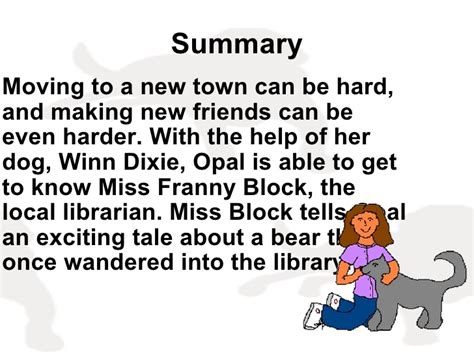 because of winn dixie book report because winn dixie 1