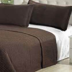 Solid Brown Quilt Modern Solid Chocolate Brown Coverlet Quilt Bedding Set