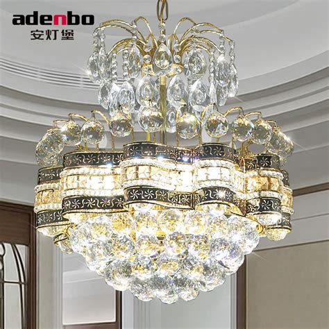 Gold Dining Room Light Fixtures 2016 New Modern Gold Led Chandeliers Light 48cm