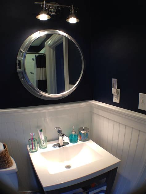 Nautical Mirrors Bathroom Bahtroom Wall L Above Nautical Bathroom Mirrors Near Casual Vanity Plus White Top Part