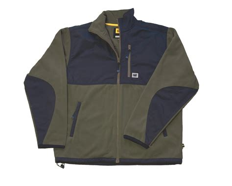Caterpillar Olive Safety caterpillar fleece jacket with overlay c446