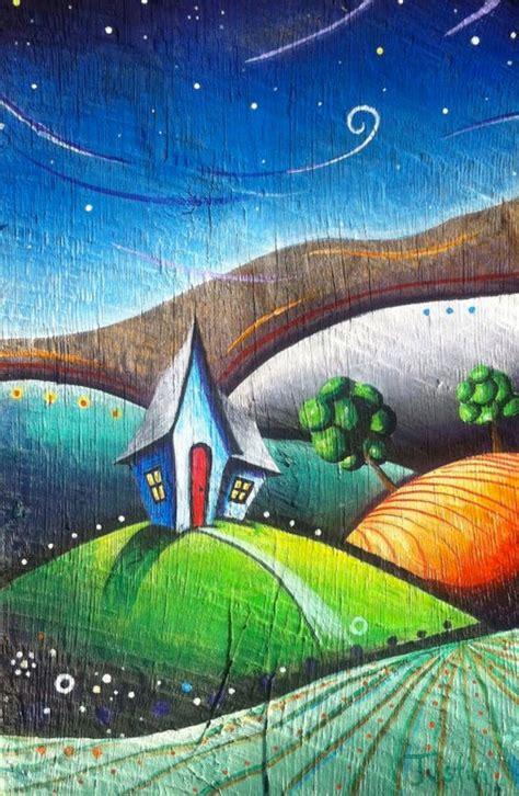 acrylic painting houses acrylic painting picmia