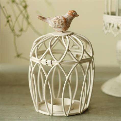 fashion craft small bird cage candle table