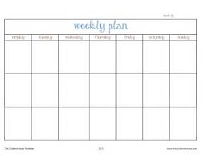 House Planners the cluttered house weekly planner printable organize