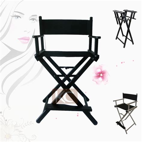 white makeup artist chair silver black lightweight portable aluminum metal makeup