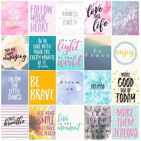 free printable quotes templates free motivational printable planner stickers printable