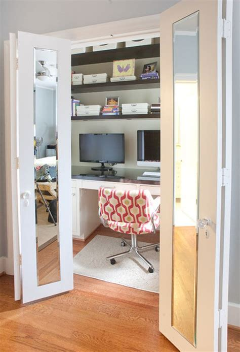 Home Office Closet Inventive Design Ideas For Small Home Offices