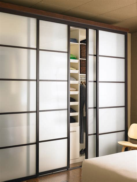 Sliding Glass Closet Doors Bedroom Closets With Sliding Doors