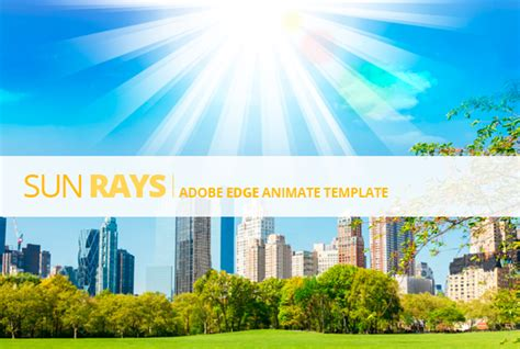 edge animate sun rays template  touringxx codecanyon