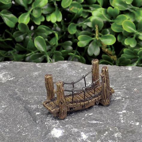 Miniature Terrarium Woden Brige Garden micro mini wood bridge garden miniatures dollhouse miniatures doll supplies