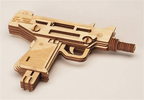 laser cut wood guns don t even fire wooden bullets at