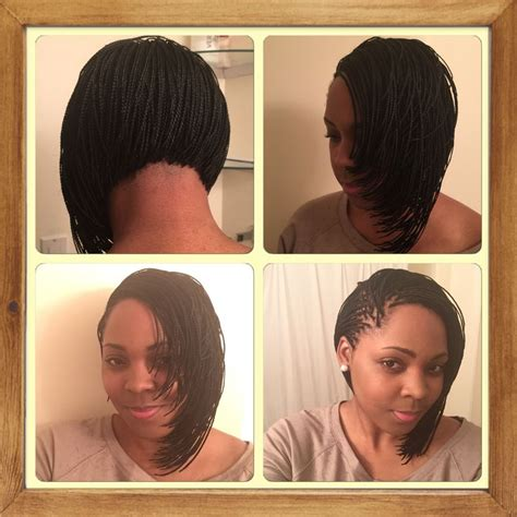 bob haircut with plait 25 best ideas about micro braids on pinterest micro