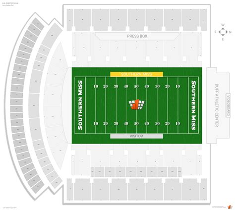 m m stadium southern miss seating guide