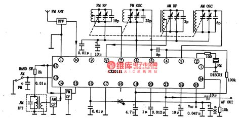 cx2o111 the am fm radio integrated circuit audio circuit circuit diagram seekic
