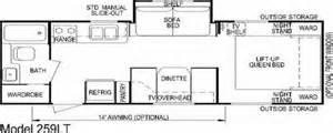 Aljo Travel Trailer Floor Plans by Aljo Model 259lt