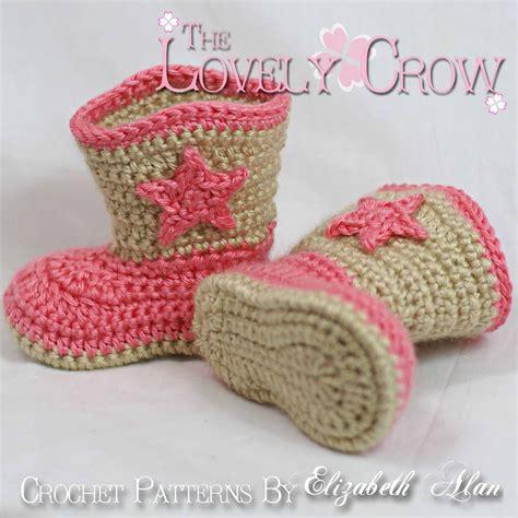 Crochet Baby Cowboy Boots Pattern