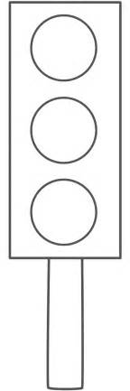 traffic lights colouring pages
