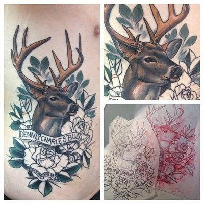 traditional deer tattoo traditional neo deer