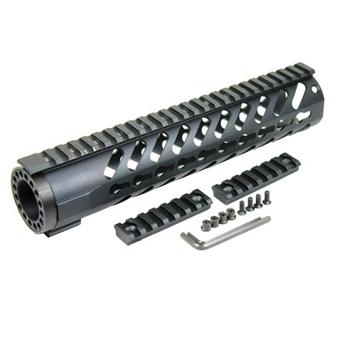 rail sections 10 quot keymod free float handguard quad rail w additional