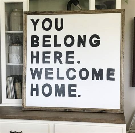 you belong here 1938298993 you belong here welcome home 36 x 36 inch wood framed sign