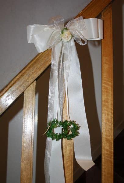 Schleifen Hochzeit by Schleife Kirchenbank Ringe Hochzeitsdekorationen