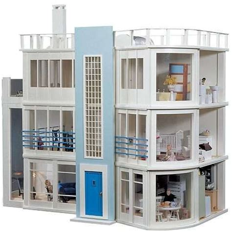 beach doll house modern beach side dollhouse dollhouses and miniatures pinterest