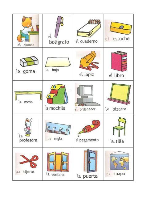 dresser en español que es pictionnary objetos en el aula de clase ficha para