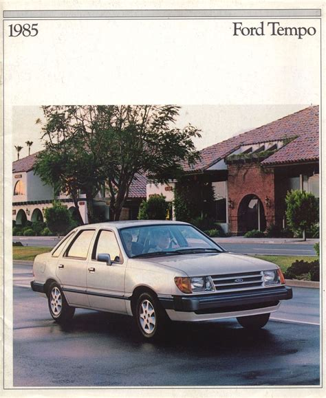 electronic toll collection 1993 ford tempo electronic toll collection ford tempo brochure