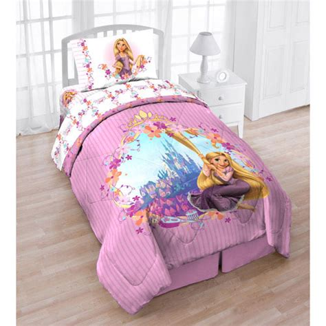 tangled bedding disneys tangled floral stripes twin comforter sheets set
