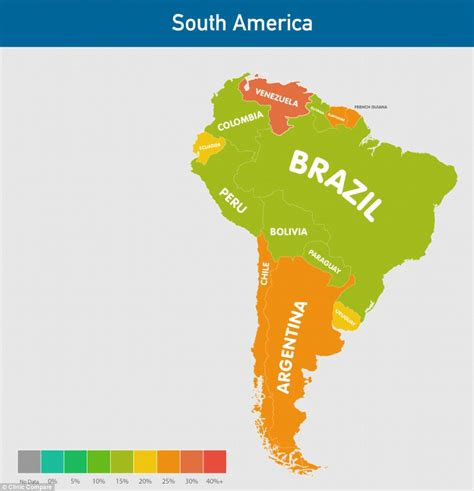 south america population map how is your country and which nations the