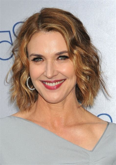 chin lenght haircut for older women brenda strong chin length wavy bob hairstyle for mature