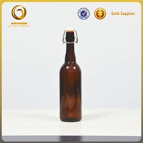 cheap swing top bottles 750ml empty cheap fany wholesale beer glass bottles with