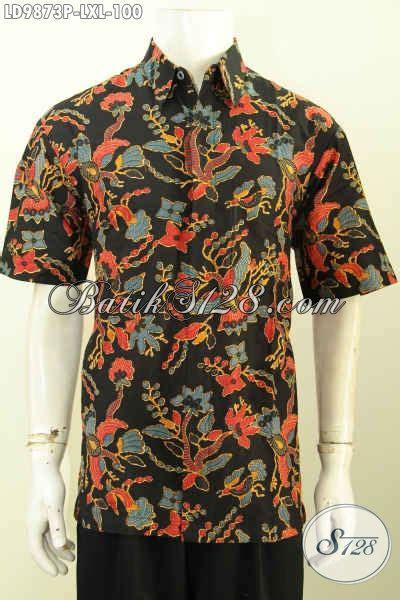 produk baju batik pria dewasa hem batik bagus desain aneka baju batik pria dewasa bagus harga murmer hem batik