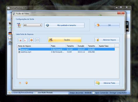 como instalar format factory no mac tutorial como unir arquivos de 225 udio e v 237 deo usando o
