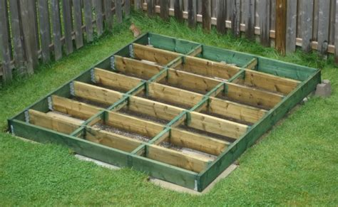 Foundation For Shed Base by Sally Looking For How To Build A Shed Floor On Deck Blocks