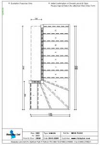 Drawing Stairs In Plan by Staircases Made To Measure Staircase Drawing Of A 4 Tread