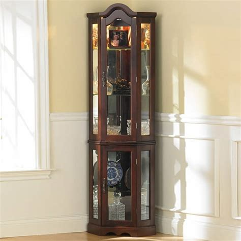 lighted corner curio cabinet cherry top 10 best corner curio cabinets 2016 home stratosphere