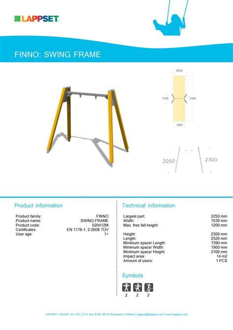 firma swing fisa tehnica echipament de joaca pentru copii swing