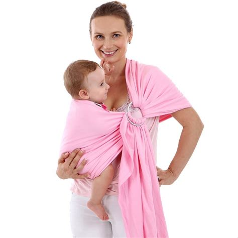 tas gendongan bayi baby wrap sling carrier black