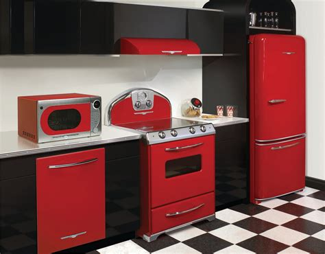 vintage style kitchen appliance red appliances for kitchen kitchen and residential