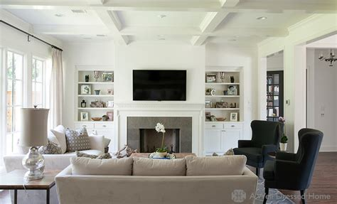 fireplace with built in bookcases like the color