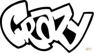 ausmalbild quot crazy quot graffiti ausmalbilder kostenlos zum ausdrucken