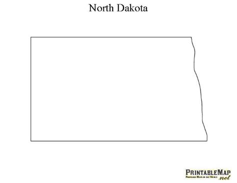 printable map  north dakota recipes pinterest